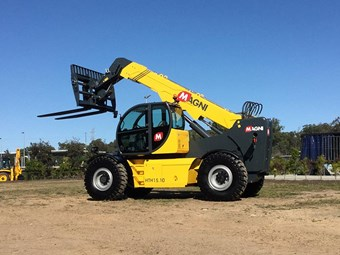 """World's biggest telehandler"" arrives in Australia"