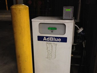 AdBlue tank sediment warning