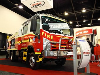 Isuzu supplies engine for new fire truck pump