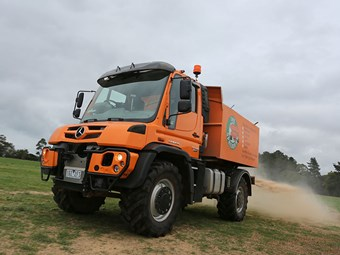 Taking the Mercedes-Benz U430 Unimog for a drive