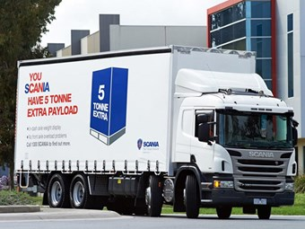 Scania ups P-series Curtainsider payload by five tonnes