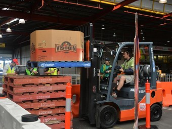 First female contender wins Toyota Forklift Challenge
