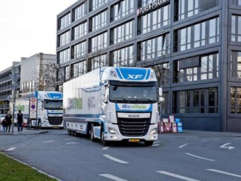 DAF and NXP showcase platooning progress in Germany