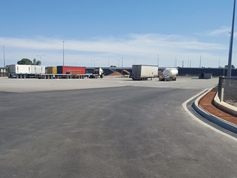New Perth road train assembly area complete