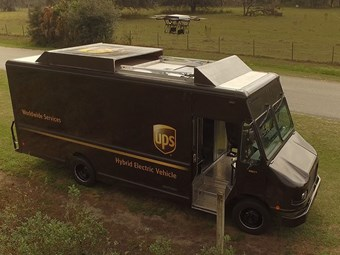 UPS launches drone from delivery van