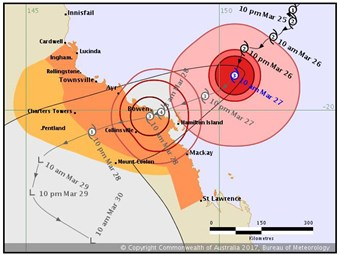 Cyclone Debbie: looming storm evokes thoughts of Yasi