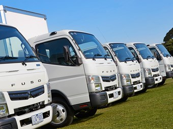 Five-year standard warranty on Fuso trucks