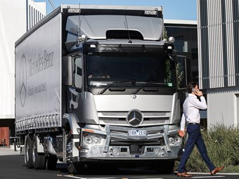 Benz brings new automatic braking system to Australia