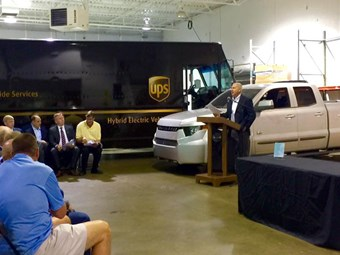 UPS sees Workhorse supply electric delivery trucks