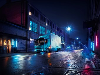 Electric Volvo truck makes Euro debut
