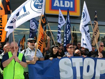Aldi take huge swipe at transport union claims