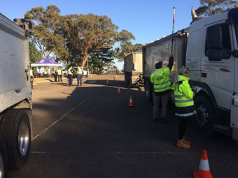 Eleven infringements in NSW truck and dog blitz
