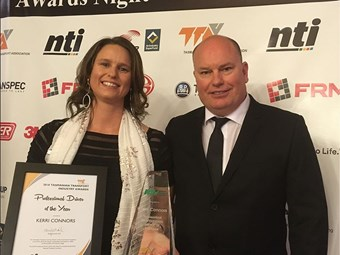 Gun driver Connors headlines Tasmanian transport awards