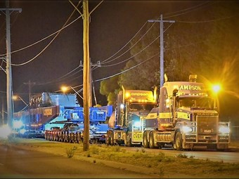 663-tonne 'superload' powers through Victoria