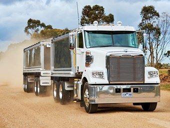 Freightliner shows off short wheelbase tipper