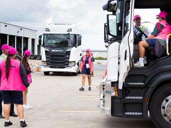 Scania hosts female workers of tomorrow event