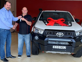Brisbane Truck Show HiLux goes to good home