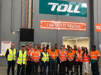 Toll has Kimberly-Clark warehousing in unison in tough times