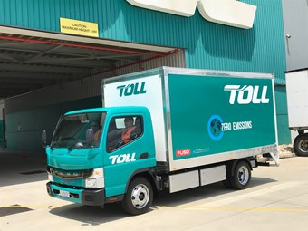 Toll puts electric truck to work around Sydney