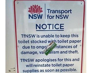 Louts to blame for NSW washroom closures