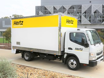 Daimler spotlights Hertz Canter fleet addition