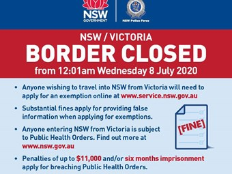 NSW goes live with Victoria border permit applications