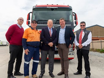 CMV delivers 300th Volvo to Ron Finemore Transport