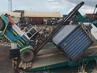 Pair of forklift flips has NT WorkSafe on edge