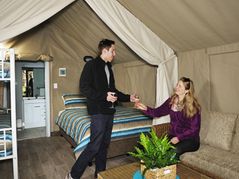 Glamping upgrades in Port Arthur