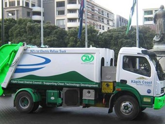 NZ electric rubbish truck shows the way