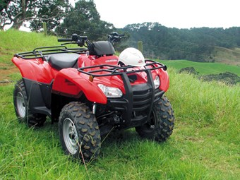Honda TRX420FPA quad bike