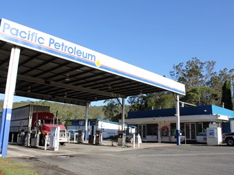First class service awaits truck drivers at Pacific Petroleum station