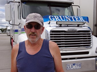 Geoff's latest truck driving gig brings home the bacon