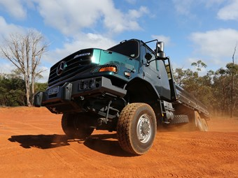 Bush-bashing with the Mercedes Benz Zetros