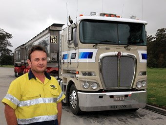 Truck driver lives the dream behind the wheel of a Kenworth K200