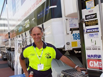 Rod Hannifey makes trucking a hot topic at caravan show