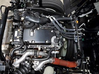 Closer look at new engine for F series Isuzu trucks