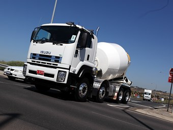 New F series: Isuzu agitator trucks get stability control