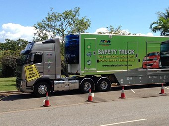 Safety Truck heading to LRTAQ's Longreach event