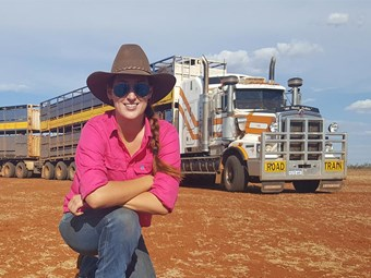 Truckies like jillaroo Jess' safety video