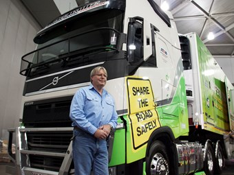 Highway Patrol to Truckie: The man taking truck safety to young drivers