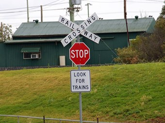 Level crossing collision video prompts increased warnings