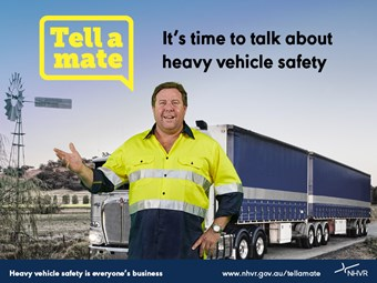 'Tell a Mate' campaign to spread truck safety message