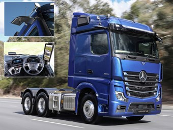 BTS19: Mercedes-Benz truck replaces mirrors with cameras