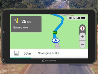 Truck specific satnav and dash cam combo
