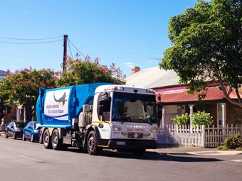 Western Adelaide councils test electric waste truck