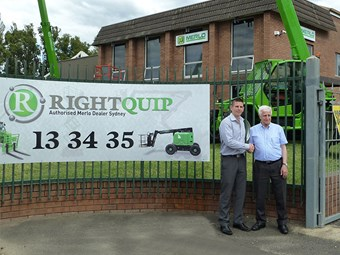 Merlo president attends RightQuip dealership opening