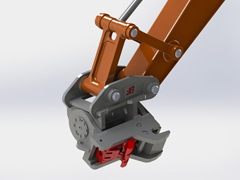 JB earthmover quick hitches updated with front and rear locks