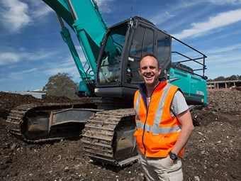 Case study: Green waste processing with Waste Op and Kobelco
