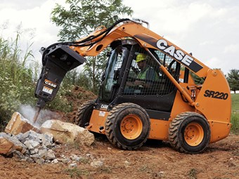 Case aims SR220 skid-steer loader at landscapers